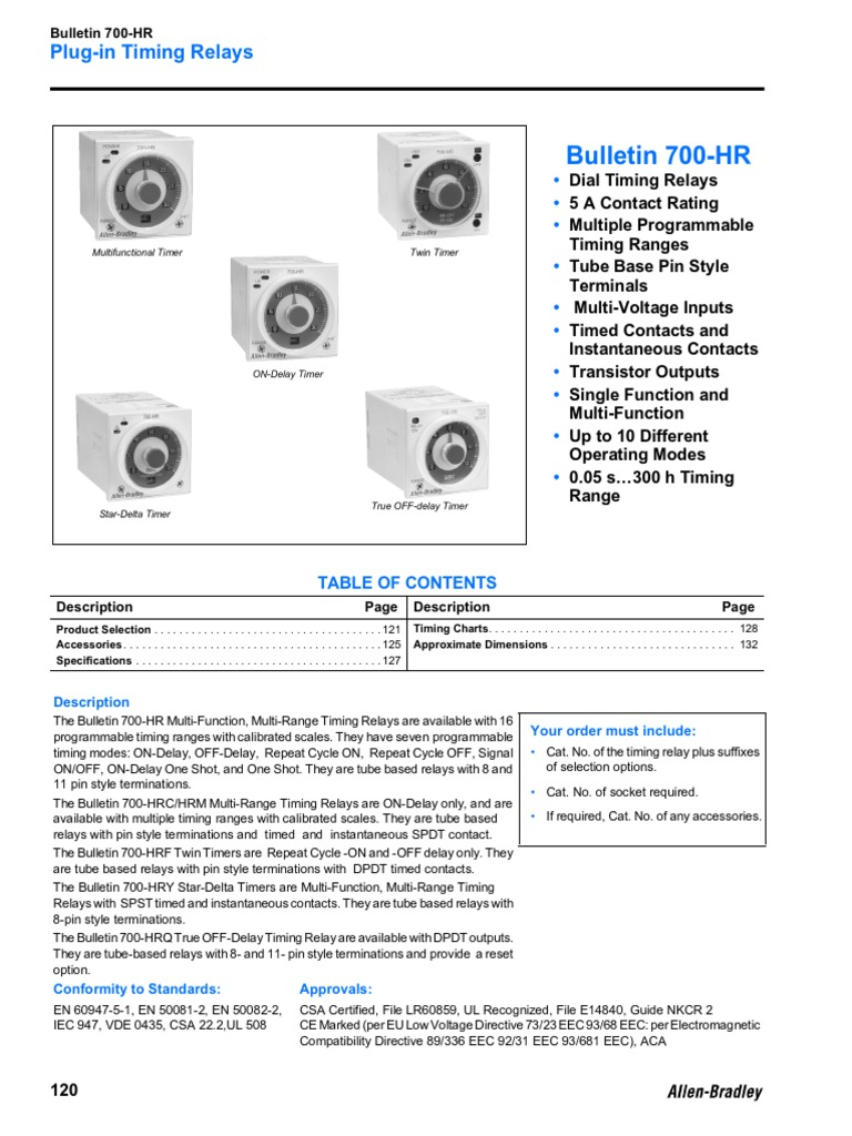 Datasheet Timer 700hr | Wire | Relay on