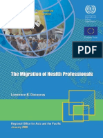 ILO MGREU WP07 - The Migration of Health Professionals