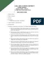 October 14, 2013 Work Session Downloadable  Agenda