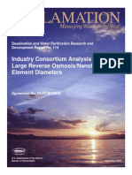 Analysis of Large Reverse Osmosis Membranes