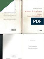 Cassin Jacques Le Sophiste