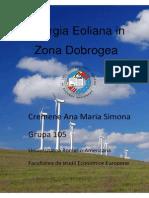 Energia Eoliana in Zona Dobrogea