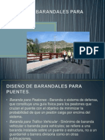 DISEÑO DE BARANDALES PARA PUENTES