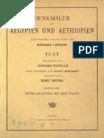 Lepsius, Carl Richard - Denkmäler aus Aegypten und Aethiopien - Band 2 - Mittelaegypten mit dem Fayum