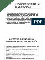 Generalidades de La Planeacion
