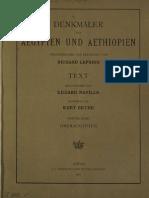 Lepsius, Carl Richard - Denkmäler aus Aegypten und Aethiopien - Band 4 - Oberaegypten