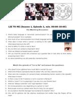 lie-to-me english worksheet