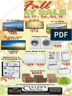 Cullens 3 Day Fall Sale