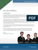 Wisco Newsletter Q3 2013