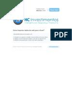 HC Investimentos - Como Importar Dados Da Web Para o Excel