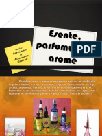 Proiect Arome, esente, parfumuri