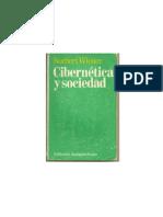 Wiener Norbert. Cibernetica y Sociedad. Capitulo 1 y 5