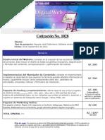 Cotizacion Website Publicitario Dinamico