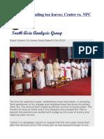 Sri Lanka Reading Tea Leaves; Centre vs. NPC