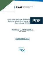 Informe Cuatrimestral Abr Ago 2013