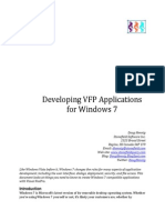 Developig VFP Applications for Windows 7