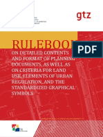 Rulebook on Detailed Contents and Format of Planning Documents