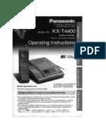 Operating Manual Telefono Panasonic Kx-t4400