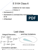 Class 6 - Eqns of Motion