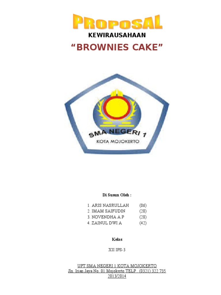 contoh proposal business plan brownies