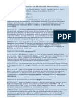 LEY Nº 21526 LEY DE ENTIDADES FINANCIERAS