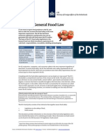 2012 EU Legislation General Food Law