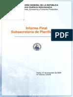 Informe Final Consolidado Subsecretaria de Planificacion-diciembre 2009.
