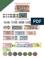 Billetes o monedas de centro América