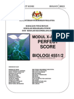 Modul Perfect Score SBP Biology SPM 2013 Question and Scheme