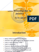Lead Poisoining Due to Jewlery