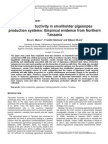 Factor productivity in smallholder pigeonpea production systems