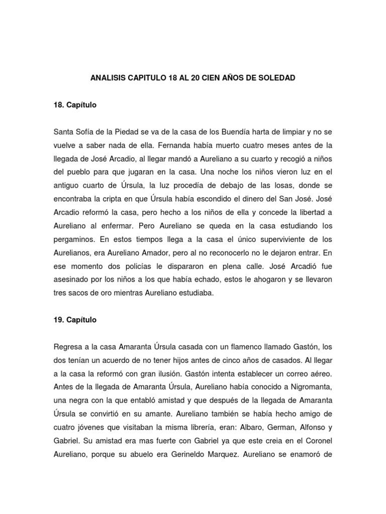 Analisis Capitulo 18 Al 20 Cien Anos De Soledad Agitacion Gobierno