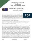 Pandit Mahesh Shastri - Panchangam & Its Uniformity