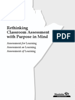 Rethinking Classroom Assessment With Purpose in Mind