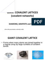 Lesson 10 Giant Covalent Lattices