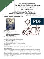 Pew Sheet 6 Oct 2013 St Francis