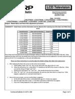 Sharp Lcdtv-280 Lc40le700un[a] Lc46le700un[a] Lc52le700un[a] Lcc46700un Lcc52700un Lcc6077un Lcc6577um Tech Bulletin
