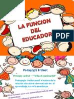 La Funcion Del Educador