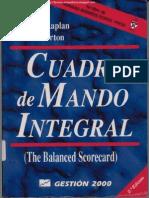 Cuadro de Mando Integral 2da Edicion Robert S Kaplan Amp David P Norton