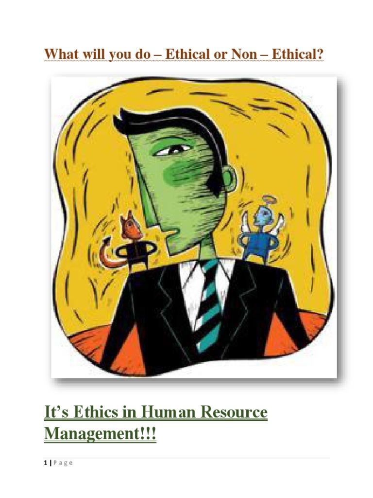 ethics human resource management essay