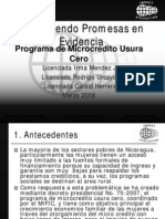 6 Microcredi Usura Cero Nicaragua