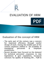 Evaluation of HRM