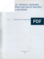 1 Introduction Instruction for Use Doh Technical Guidelines Hospital Design 25 Bed