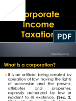 Report on Tax 1 corporation