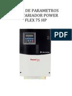 lista de parametros del variador powerr flex 400 75 HP.docx