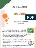 Polusi Lingkungan Akibat Kebisingan