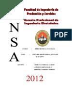 Informe Proyecto Analoga II Amplificador Audiocar