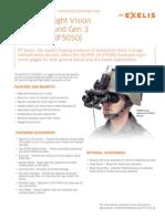ITT Exelis an PVS 23 Night Vision Goggle
