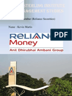 Kevin Martis Reliance Securities