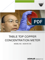 Table Top Copper Concentration Meter